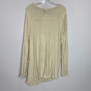 Free People Tops - Free People | cream wrap front long sleeve top M